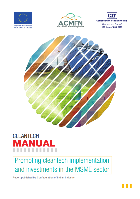 Cleantech Manual - Snapshot of Indian Cleantech landscape through our ACMFN experience