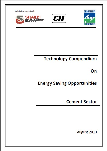 Technology Compendium on Energy Saving Opportunities in Cement Sector