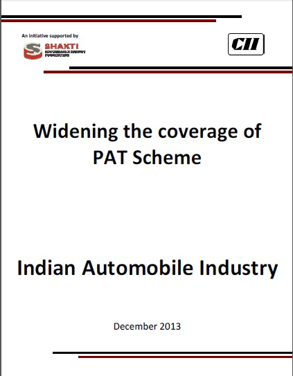 Widening of PAT Scheme - Automobile Sector