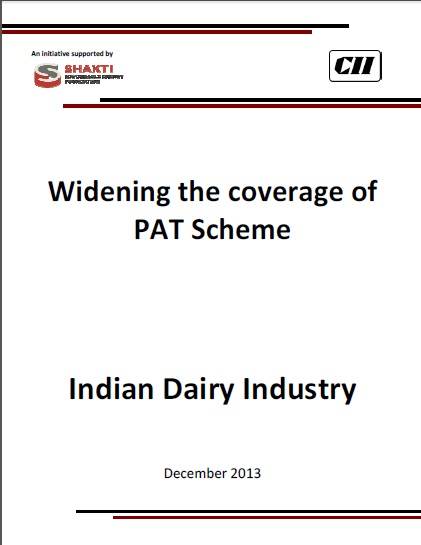 Widening of PAT Scheme - Dairy  Sector